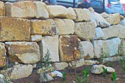 Sandstone Retaining Wall Random Blocks